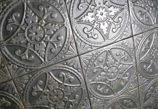 pressed tin tiles Sydney metal finish