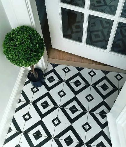 Black and white floor tiles sydney kitchen and bathroom