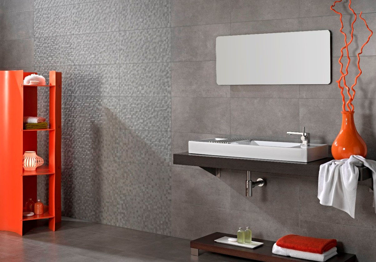 Concrete Tiles Bathroom Flooring