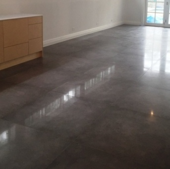 Sydney concrete polsihed porcelain tiles floor tile bathroom kitchen tiles for Polished concrete floor bathroom